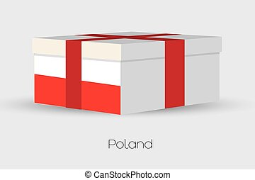 Gift Box with the flag of Poland