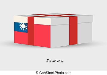 Gift Box with the flag of Taiwan