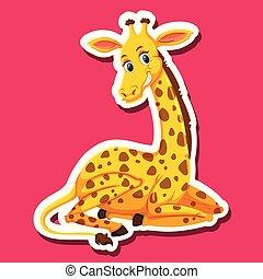 A giraffe character sticker