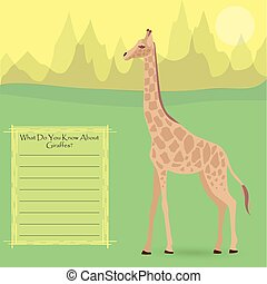 A Giraffe in the Wild - A Giraffe Against Symplistic Nature...
