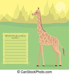 A Giraffe in the Wild - A Giraffe Against Symplistic Nature...
