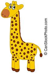 a giraffe profile