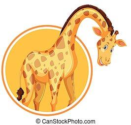 A giraffe sticker template