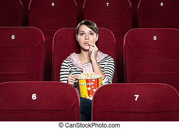 A girl at the cinema