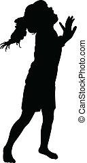 a girl body silhouette vector