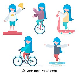 A girl doing sports