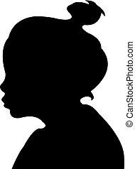 a girl head silhouette