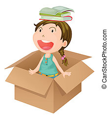 A girl in a box