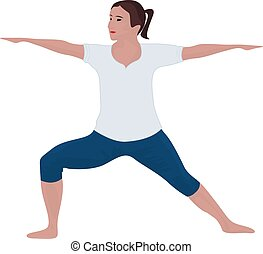 A girl in yoga pose