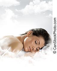 sleep - A girl is having a sleep of a just