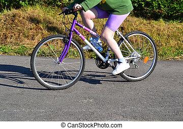A girl on bike