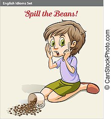A girl spilling the beans