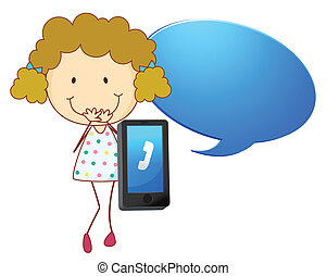a girl with cell phone