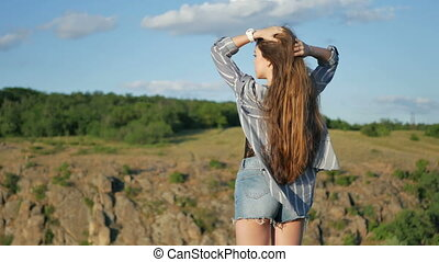 A girl with healthy, long hair