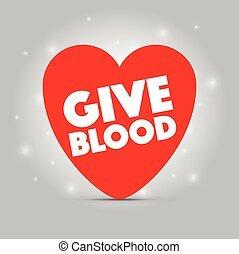 a give blood heart