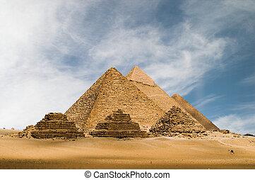 a, gizeh, piramis