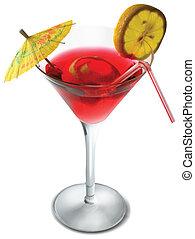A glass alcohol