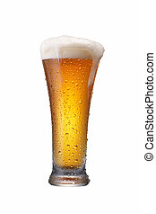 glass of beer - a glass of beer overflow