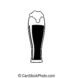 A glass of beer silhouette