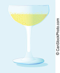 A Glass of Bubbly Background