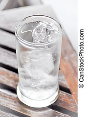drinking water and ice