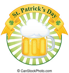 A glass of fine beer for St. Patrick's day