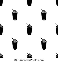 A glass of frappe.Different types of coffee single icon in black style vector symbol stock illustration web.