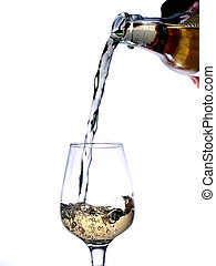 a glass of gold beverage