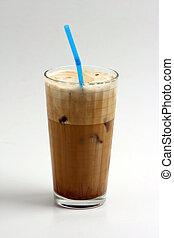 frape - a glass of nice greek way ice coffee frape with milk