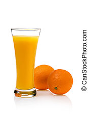A Glass of orange Juice with Fruit.