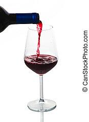A glass of wine closeup