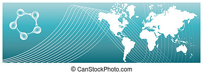 A Global Business Abstract Background Pattern Texture. Vector available