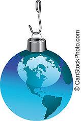 A global christmas ornament