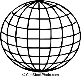 a globe icon on white background