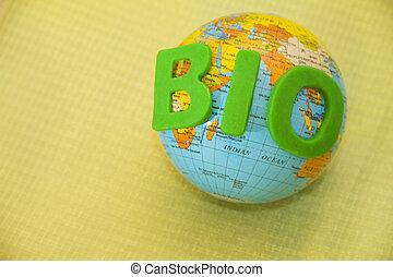 bio - A globe with the word green bio