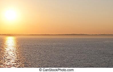 a glorious sunset at sea