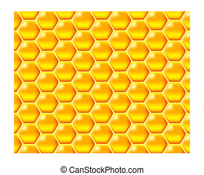 honeycomb - a glossy vector illustration of golden honeycomb