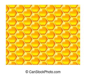 honeycomb - a glossy vector illustration of golden honeycomb
