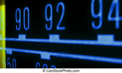 a glowing radio with the marker running through the ...