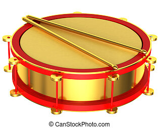 A gold drum