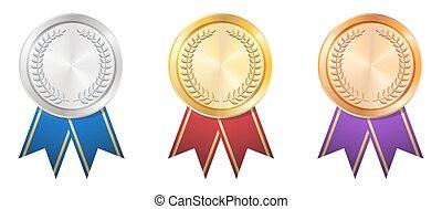 A Gold Silver Bronze badge