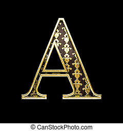 a golden letter 3d illustration