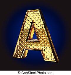 a golden letter