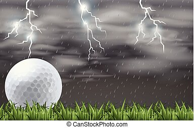 A golf at the field