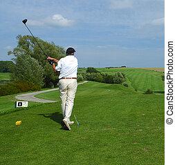 golfer doing a swing