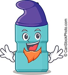 A gorgeous cartoon design of mouthwash as an Elf fairytale character