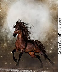 Brown Horse - A Gorgeous Galloping Brown Horse!