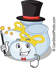 A gorgeous smart Magician of baby boy boots cartoon design style