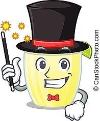 A gorgeous smart Magician of daiquiri cocktail cartoon ...