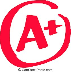 A+ Grade Exam - The top A+ grade for exam results in vector
